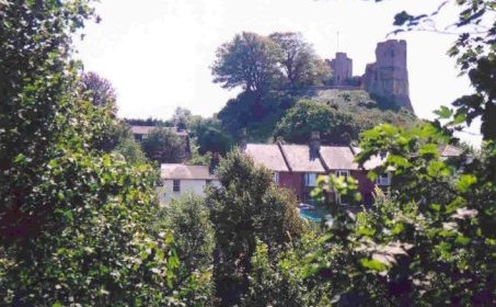 Lewes Castle viewed from The Paddock.  K.B.S.Creer